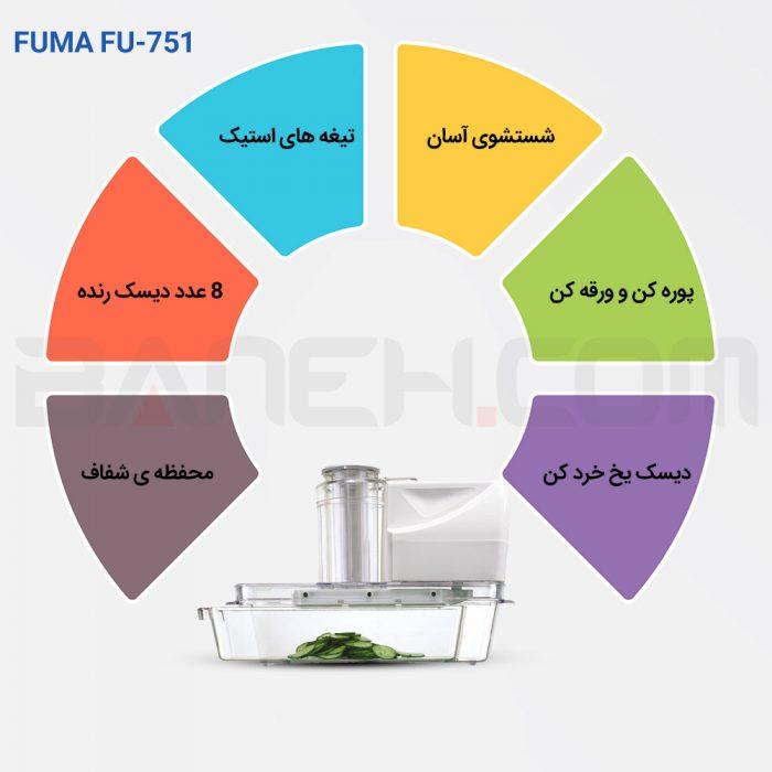 fu 751 8 700x700 - رنده برقی 16 کاره فوما FUMA ELECTRIC SLICER FU-751