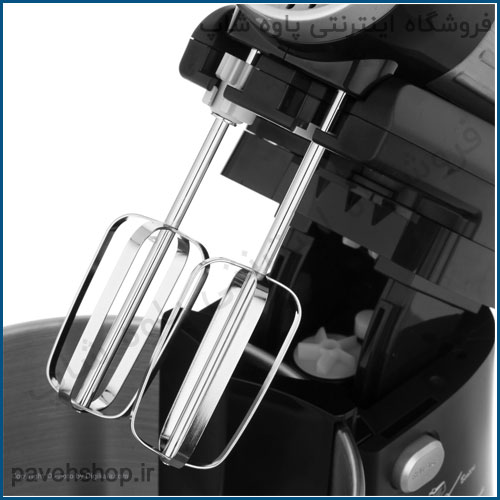 مشخصات فنی Maier MR-993 mixer مشخصات کلی ابعاد 300x190x35 میلیمتر وزن 2.65 کیلوگرم مشخصات همزن نوع همزن پایه دار توان مصرفی 550 وات عملکرد توربو دارد تعداد پرههای همزن 2 عدد جنس پره استیل تنظیمات سرعت دارد تعداد تنظیمات سرعت 5 سرعته کاسه بله ظرفیت کاسه 3 لیتر چرخش اتوماتیک کاسه دارد خمیرزن دارد تعداد سری 2 سایر مشخصات کاسه چرخان گردش به چپ و راست سر دستگاه اقلام همراه یک جفت میله مارپیچ یک جفت میله بادکنکی کاردک محدوده توان مصرفی 500 تا 600 وات نمایشگر ندارد نوع کاسه متحرک جنس کاسه استیل