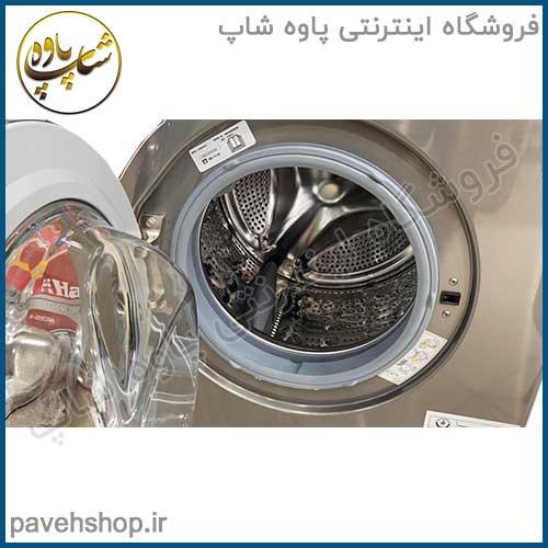 ماشین لباسشویی ال جی FH4G6TDY6 با ظرفیت 8 کیلوگرم 8KG Steam Washing Machine Chrome Knob